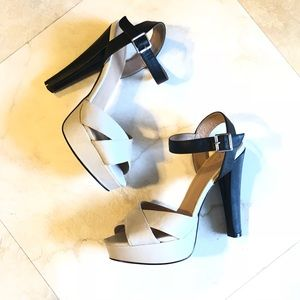 F21 Platform Two Toned Sandals 7.5